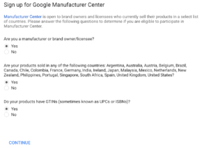 what you need to be eligible for Google Manufacture Centre